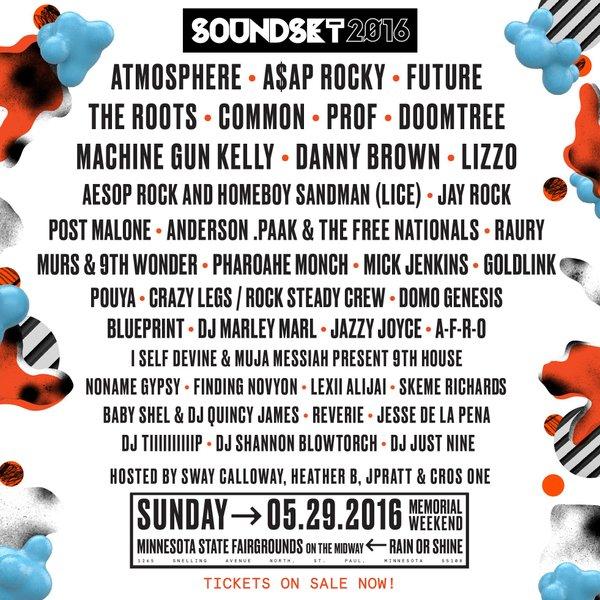 Soundset Festival 2016 Lineup Graphic